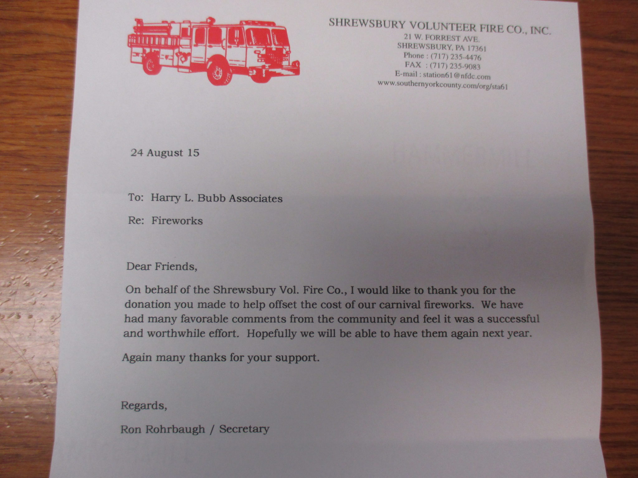 letters to insurance company