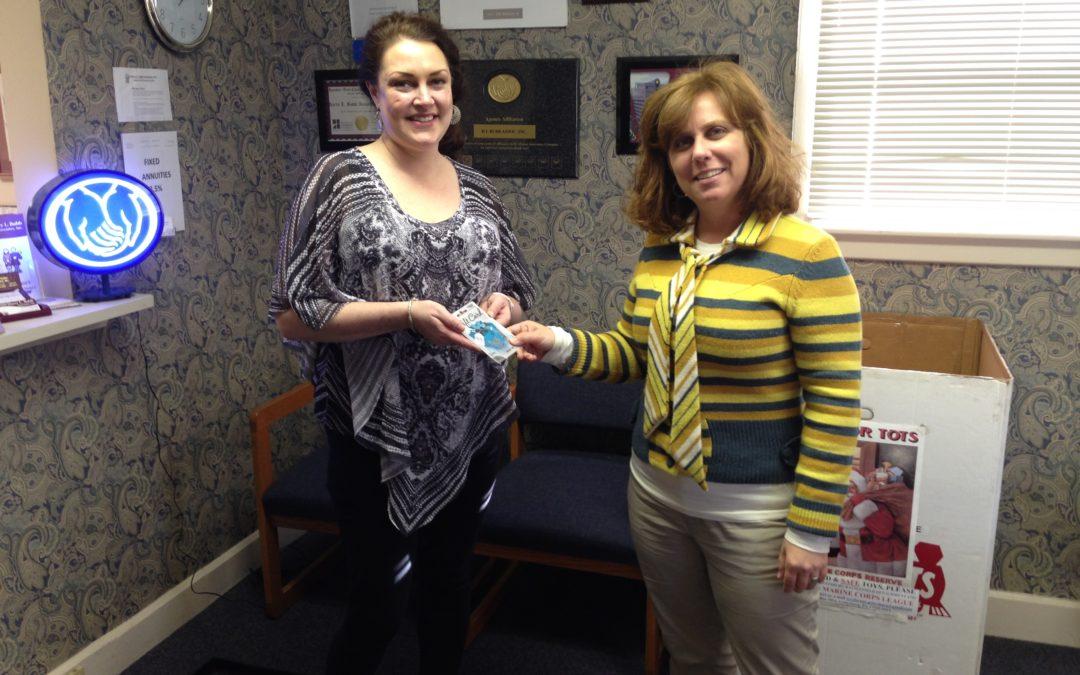 Ashley Messinger, Visa Gift Card Winner