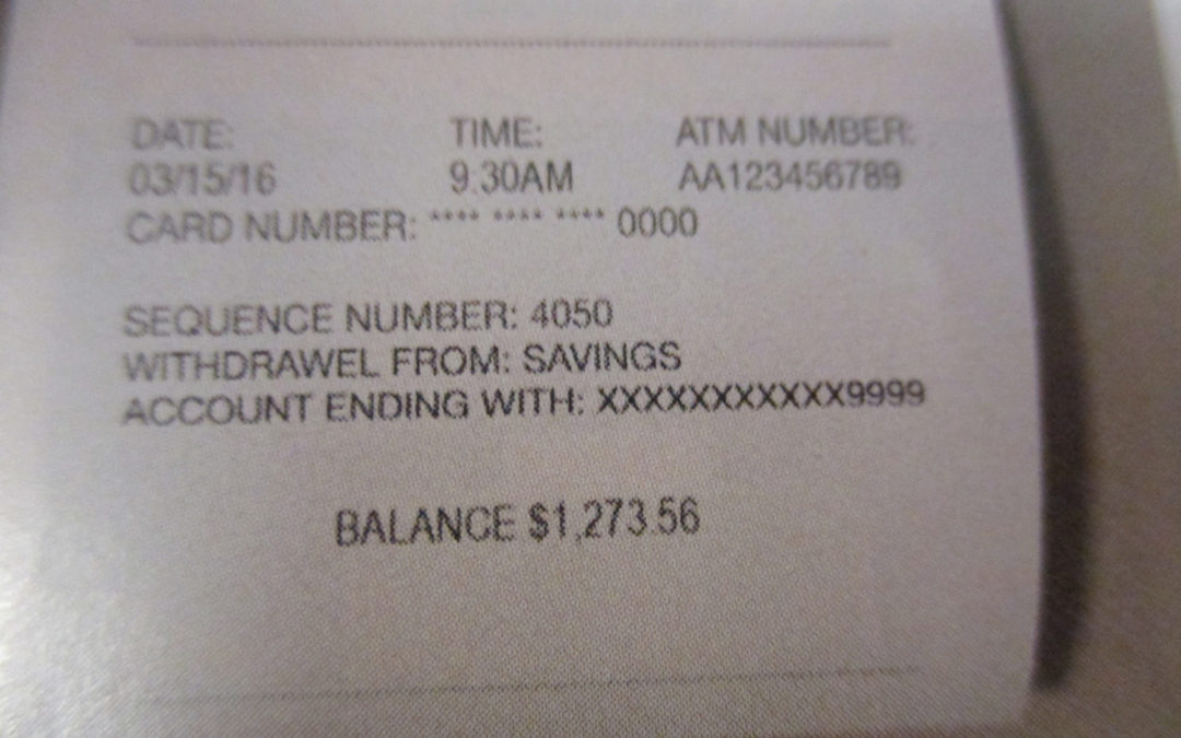 Identity Theft & Your ATM Receipt
