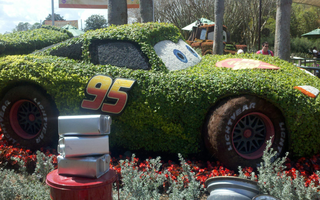 Topiary Car for Wheels Wednesday