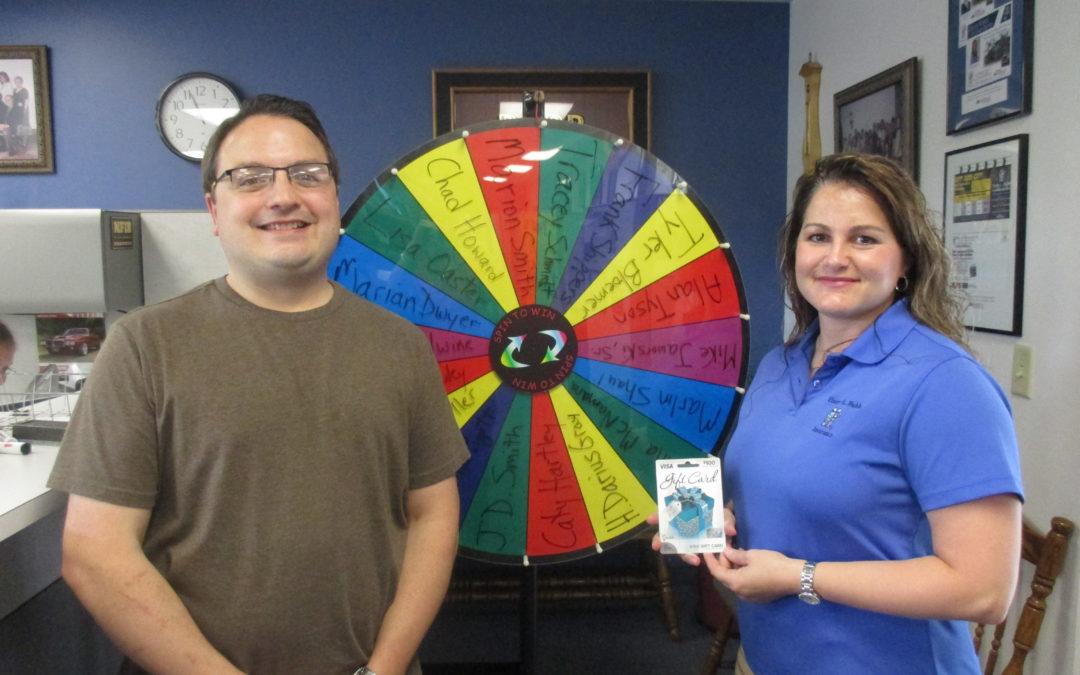 Referral Wheel Winner, Frank Schippers