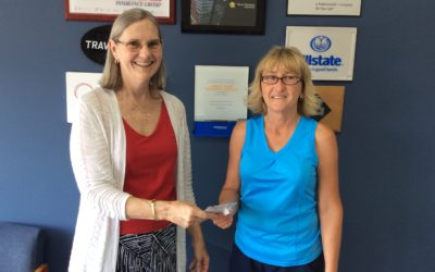 Referral Wheel Winner Ruth Keener