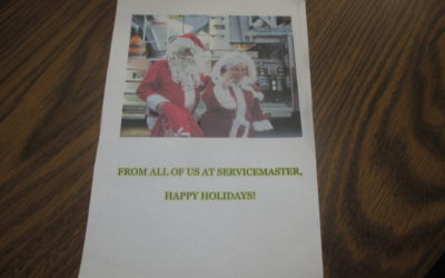 Thanks Cindy at ServiceMaster Fire & Water Clean Up Services