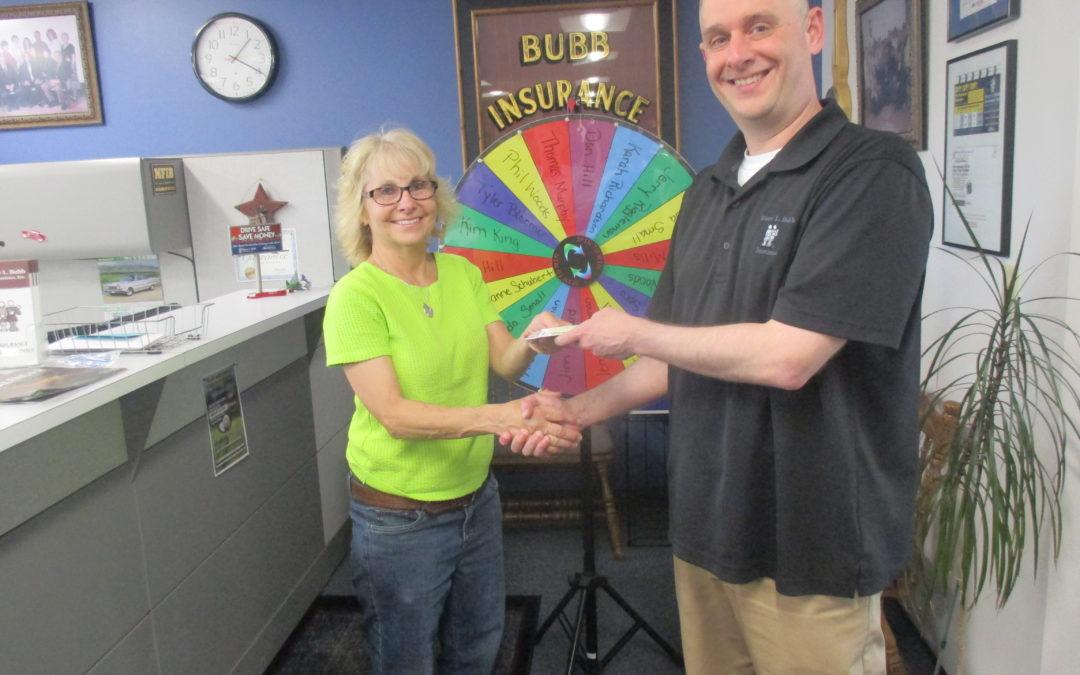 Referral Wheel Winner, Mary Brenneman