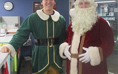Restoration Relief Santa (Casey) & His Elf (Josh Morken)