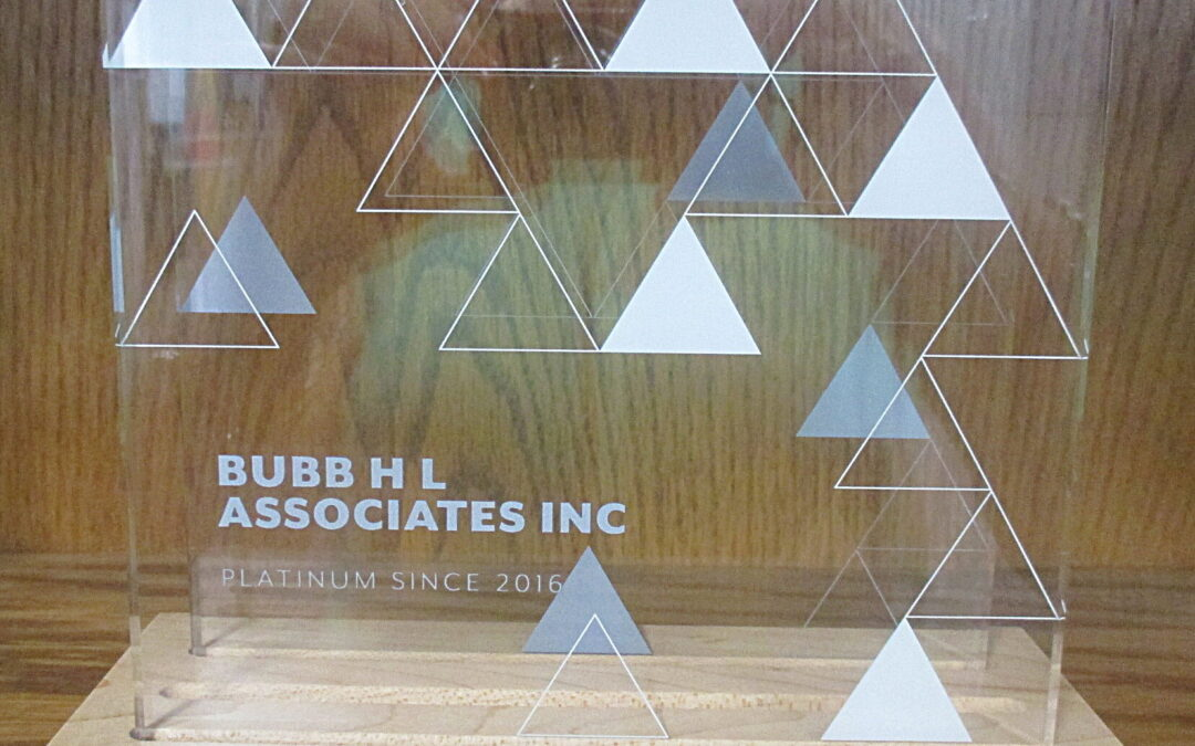 H L Bubb Earns Platinum Silver Status